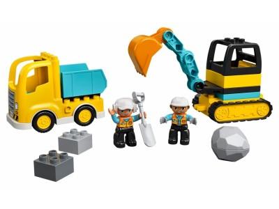LEGO 10931 - Грузовик и гусенечный экскаватор