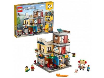 LEGO 31097 - Зоомагазин и кафе в центре города