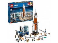 Ракета для запуска в далекий космос и пульт управления запуском