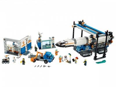 LEGO 60229 - Площадка для сборки и транспорт для перевозки ракеты
