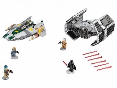 LEGO 75150 - Усовершенствованный истребитель TIE Дарта Вейдера и истребитель A-Wing