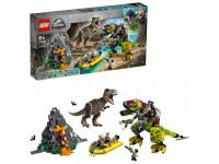 Бой тираннозавра и робота-динозавра