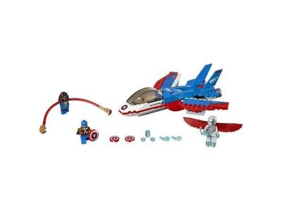 LEGO 76076 - Воздушная погоня Капитана Америка
