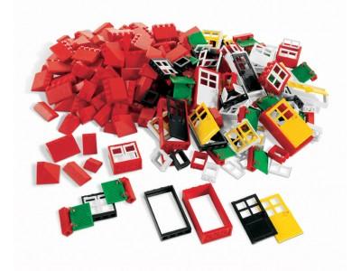 LEGO 9386 - Окна, двери и черепица для крыши. LEGO