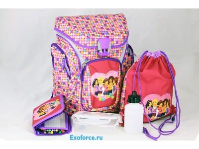 LEGO 201001814 - Рюкзак с сумкой для обуви Friends