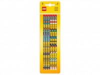 Набор из 6 карандашей с ластиками